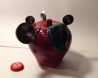 Ceramic Apple with Measuring Spoons