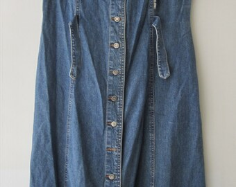 Vintage Blue Jean Women's Jumper Dress Denim