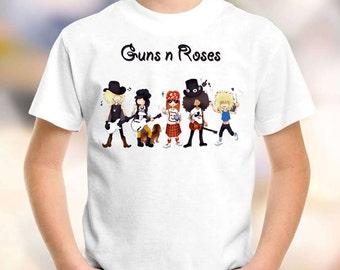 guns n roses t-shirt model-9 guns n roses shirt children toddler kid tee for gilrs and boys size:1-8 years