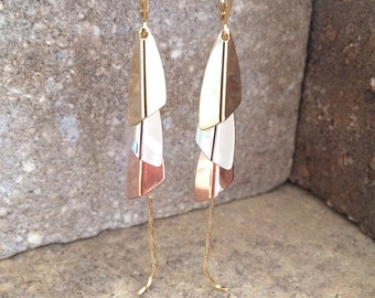 Vintage | Multi-Tone Dangle Earrings
