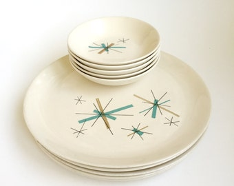 Salem Ovenproof North Star Dinner Plates and Dessert/Fruit Bowls