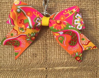Fun Paisley Back-Pack Bow