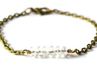 Clear Quartz Bracelet - The Terra Collection - Quartz Bracelet - Boho Chic
