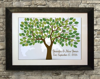 Wedding Guest Book Alternative, Wedding Guest Book, Wedding Guest Book Tree, Guest Book Poster, 24 x 36 inches (175 to 300 guests)