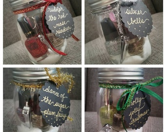 Manicure in a Jar - Christmas Gift, Stocking Stuffer, Party Favor