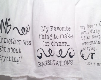 Snarky Dish Towels
