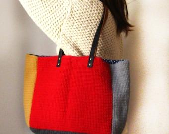 Tote Bag/Hand Made/Original/Wool Tote
