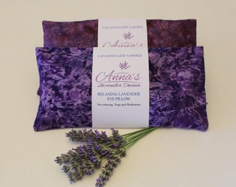 Lavender Eye Pillow Purple Sleep Essentials Personalized Gift for Mam Gifting Yoga Retreat Aromatherapy Home Spa Decor Bridesmaid Gift