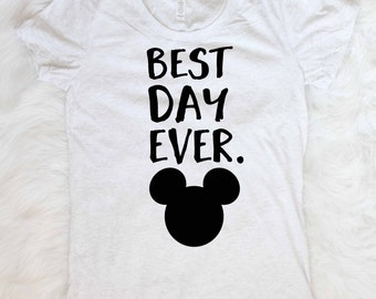 Free shipping Mickey mouse shirt minnie mouse shirt best day ever shirt disneyland shirt disneyworld shirt