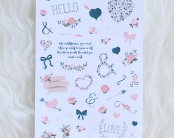 Make Me Blush Decorative Planner Sticker Sheet