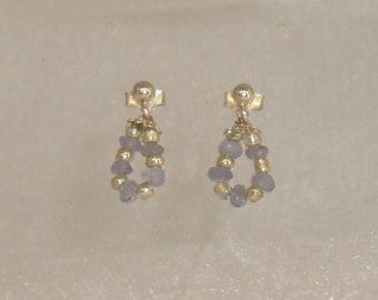 pair of earrings in 925 Silver and tanzanite