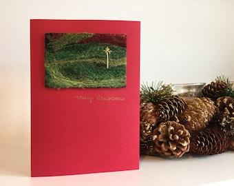 Felted Christmas Card
