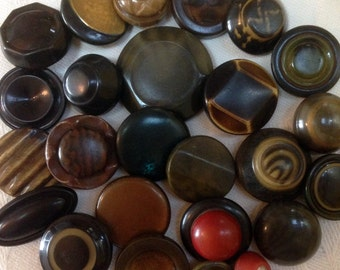 Vintage Celluloid Buttons Lot. Deco.