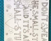 Adult Colouring Page Don't Sweat The Small Stuff