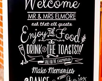 Personalized Wedding Chalkboards