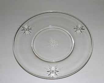 Vintage Cut Glass Plates with Stars