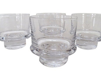 Crystal Ship Glasses S/4, Glassware, Barware