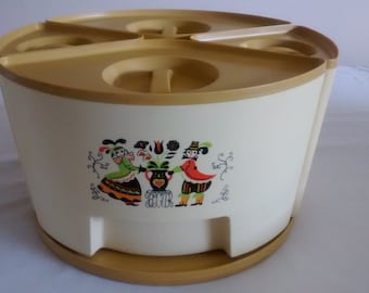 Vintage Sterlite Canister set with Carousel/ Lazy Susan