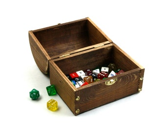 Dungeons and Dragons Dice Box - Large Wood Dice Box - DND Dice Bag / Box