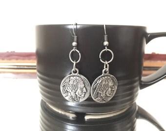 Liberty Dangle Earrings (rustic silver)