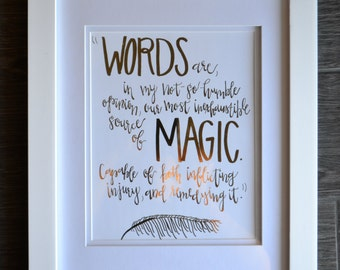 Harry Potter foil print