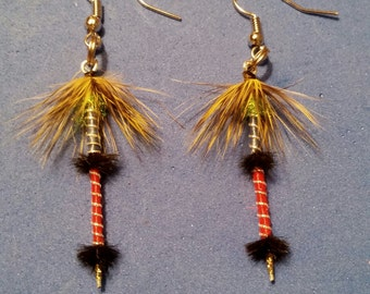 Feather hand tied earrings