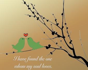 Wedding - Love Birds Print