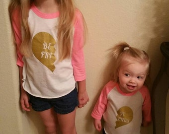 Best Friends Set - Girls Best Friends Outfit - Girls Matching Set - Mommy And Me Set - BFF Outfit - Friends Outfit - Girls Best Friends Set