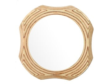 round mirror the contemporary raka mirror frame a wooden wall hanging mirror ideal for living room bedroom or dining room