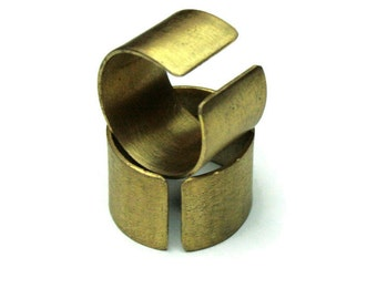 Brushed Brass Adjustable Ring