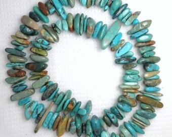 "AA Grade  Stacked Turquoise 5mm X 12mm Beads 16"" Std Gemstone Jewelry Craft # E57"