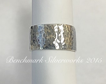Silver Ring Hammered Finish