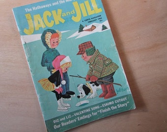 Jack and Jill Magazine Vintage Children's Magazine February 1962