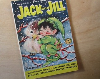 Jack and Jill Vintage Children's Magazine February 1963