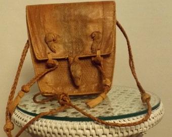 VINTAGE LIZARD Safari Bag