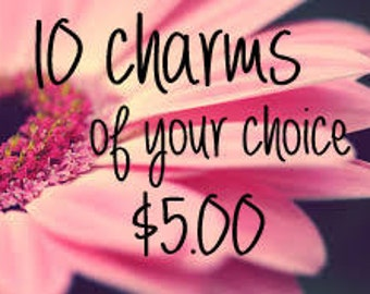 Choice of 10 Charms