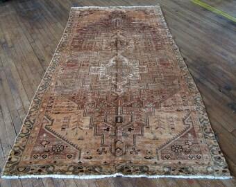 "Vintage Persian Hamadan Rug 4'10""x8'1"" - Hunttrugs"