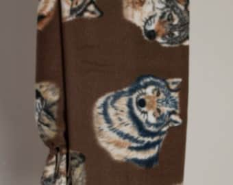 Brown Wolf Print Scarf