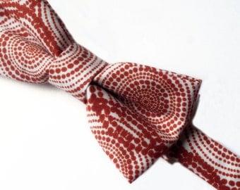 Men's Copper Bow tie, Men's Bowtie, Rust Bow tie, Brown Bow tie, Polka Dot Bow tie, Bow tie, Pre-tied Bow tie
