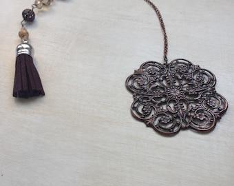 Brown Flower bookmark