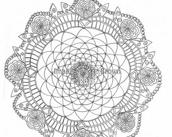 Coloring page doily