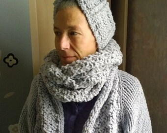 Snood scarf and headband