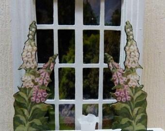 Digital, 2 decorative wooden panels - 1/12 scale - Decoration for Dollhouse Miniature accessory