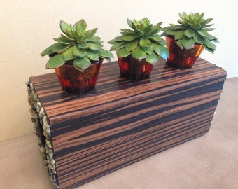 zebra wood centerpiece