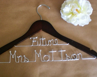 Grand Opening, Only 10.00/Personalized Wedding Dress Hanger/Personalized Wedding Hangers/Wedding Hangers/Weddings/Bride/Personalized hangers