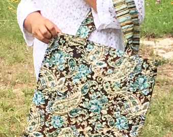 Paisley/Floral tote