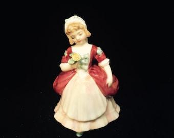 "1952 Rare Royal Daulton ""Valerie"" Porcelain Figurine"