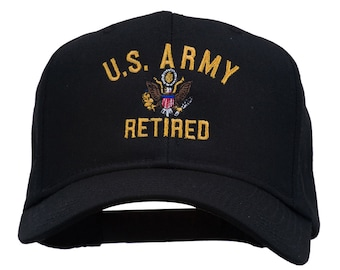 US Army Retired Military Embroidered Cap