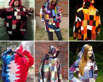 Your choice patchwork hoodie