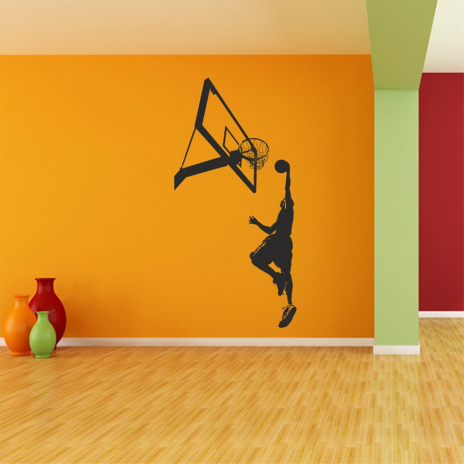 Basketball wall decal basketball decal sports wall decal for Basketball wall decals